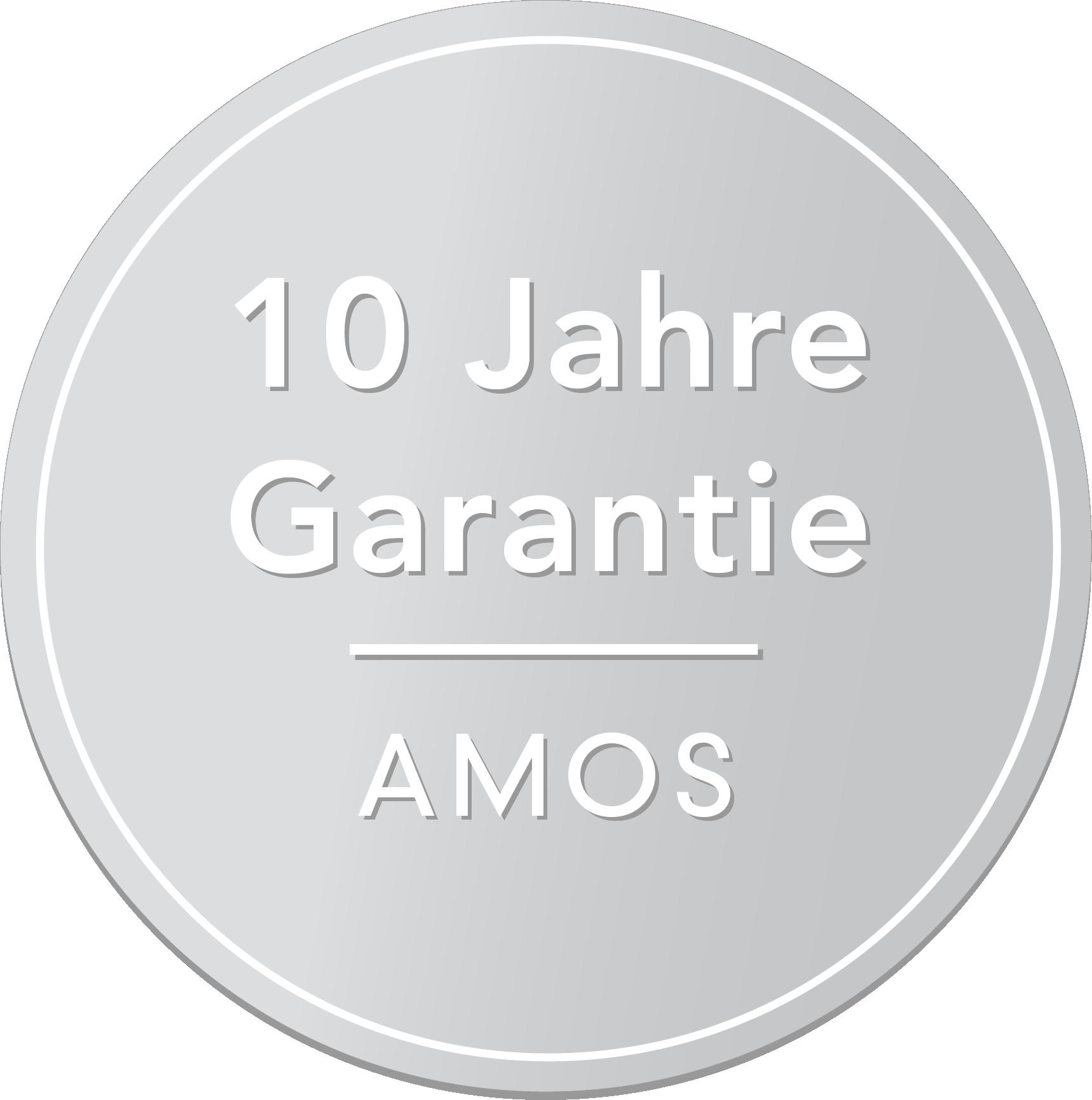 10 Jahre Garantie - AMOS